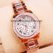 High Quality Alloy Quartz Gold Wrist Watch Dress Watch for Lady