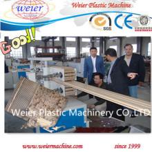 Linha de produção plástica composta de madeira dos perfis WPC