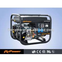 5kw / 5kva 50HZ Aire enfriado menor consumo eléctrico arranque generador de gasolina conjunto marco abierto