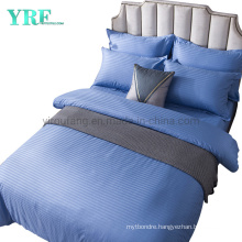 Linen Cotton Sheets 400 Count Thread Hotel Double Blue