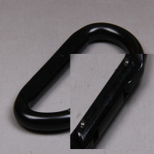 Black Steel Carabiner Snap Hook for Safety Harness OEM