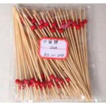 Brochettes / bâtonnets en bambou peu arrondi