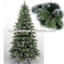 Decorativas 240cm al aire libre mayor aguja de pino nieve árbol de Navidad