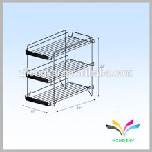 Estante de pie de alimentos Box Metal Wire Display Rack para la tienda de empuje Venta