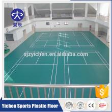 telhas de assoalho plástico de bloqueio tapete folha de cobertura de badminton pvc