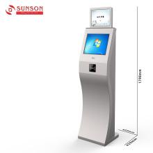 Quiosque de informações da Internet com tela de toque e leitor de cartão NFC RFID