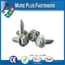 Made in Taiwan Hex Washer Head Flange Self Tapping Screw Low Carbon Steel or Stainless Steel