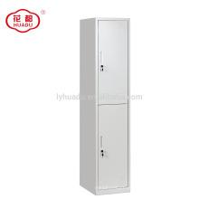 China fábrica de alta qualidade personalizado 2 porta de aço individual uniforme armário