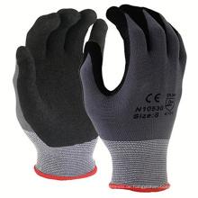 Hochwertige Handschuhe aus sandfarbenem Nitril beschichtet mit ölbeständigen Handschuhen