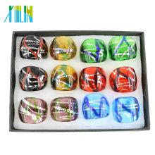 Requintado Mix Cor Lampwork Murano Anéis De Vidro 12 pçs / caixa, MC1015