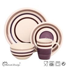 16PCS High Quality Handpainted Grey Ceramic Dinner Set