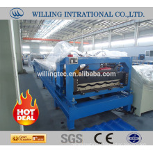 2016 Top quality glazed metal roof tile roll forming machine
