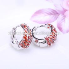 Bisuteria Fashionable Garnet Zircon Huggie Earrings
