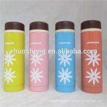 caliente venta de BPA gratis buena calidad doble pared de acero inoxidable por mayor de termo con botón