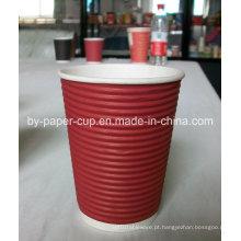 Degradável de copos populares de Currugated