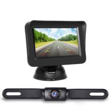 Caméra de recul de plaque d'immatriculation et écran 4.3 pouces