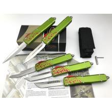 Couteau OTF Poignée en aluminium à double action assistée par ressort