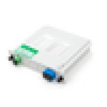 1x2 SC UPC tipo de inserção fibra PLC divisor, divisor mini tubo plc