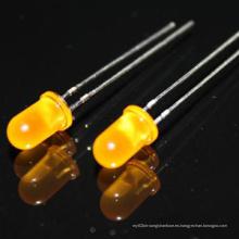 Venta caliente 3mm 5mm amarillo redondo / blanco caliente Diodo de color LED