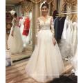 Алибаба горячие продажи с длинным рукавом a-line свадебное платье свадебное платье