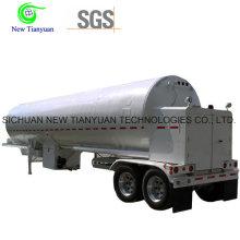 Liquefied Sulfur Dioxide 21m3 Volume Container Tank Semi Trailer