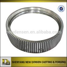 Mecanizado CNC Acero mecánico giratorio Gear Ring