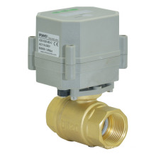 2 Way 1/2 Inch Automatic Drain Brass Valve Electric Control Timer Drain Ball Valve