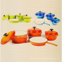 4PCS эмаль чугунная посуда набор LFGB утвержденных завод Китай