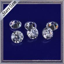 Завод прямых низкая цена продажи 3,5 мм блестящий Белый синтетический кубический цирконий