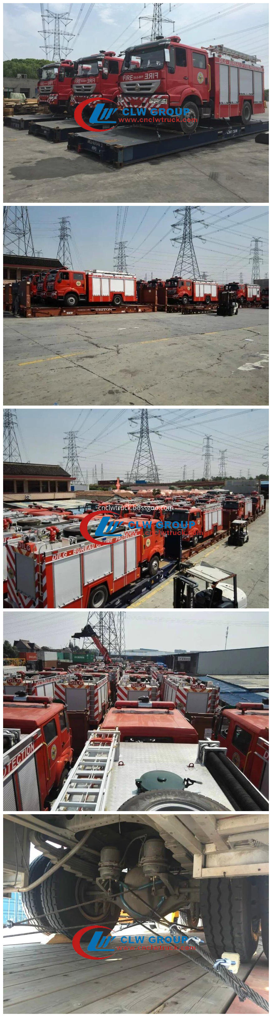 fire engine for shipping