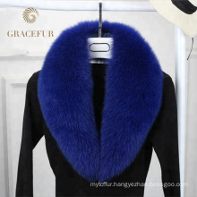 Direct factory price detachable real fox fur collar high quality luxurioius