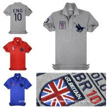Stickerei Logo Großhandel neuesten Design Polo T-Shirt