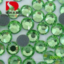 Chinese Peridot DMC Back Glue Hotfix Rhinestone for Wholesale (DZ-01)