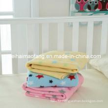 100%Polyester Polar Fleece Baby Blanket /Travel Picnic Fleece Blanket