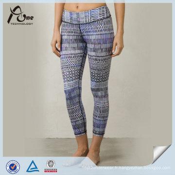 Pantalon de yoga personnalisé en gros de sublimation coloré d'OEM