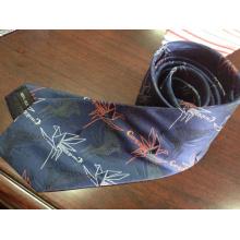 Beautiful Embroidery Silk Ties in Dark Color