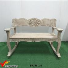 Única cadeira de balanço de madeira antiga duplo para 2
