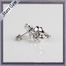 925 Sterling Silver Flower Shape Earring Stud Jewelry