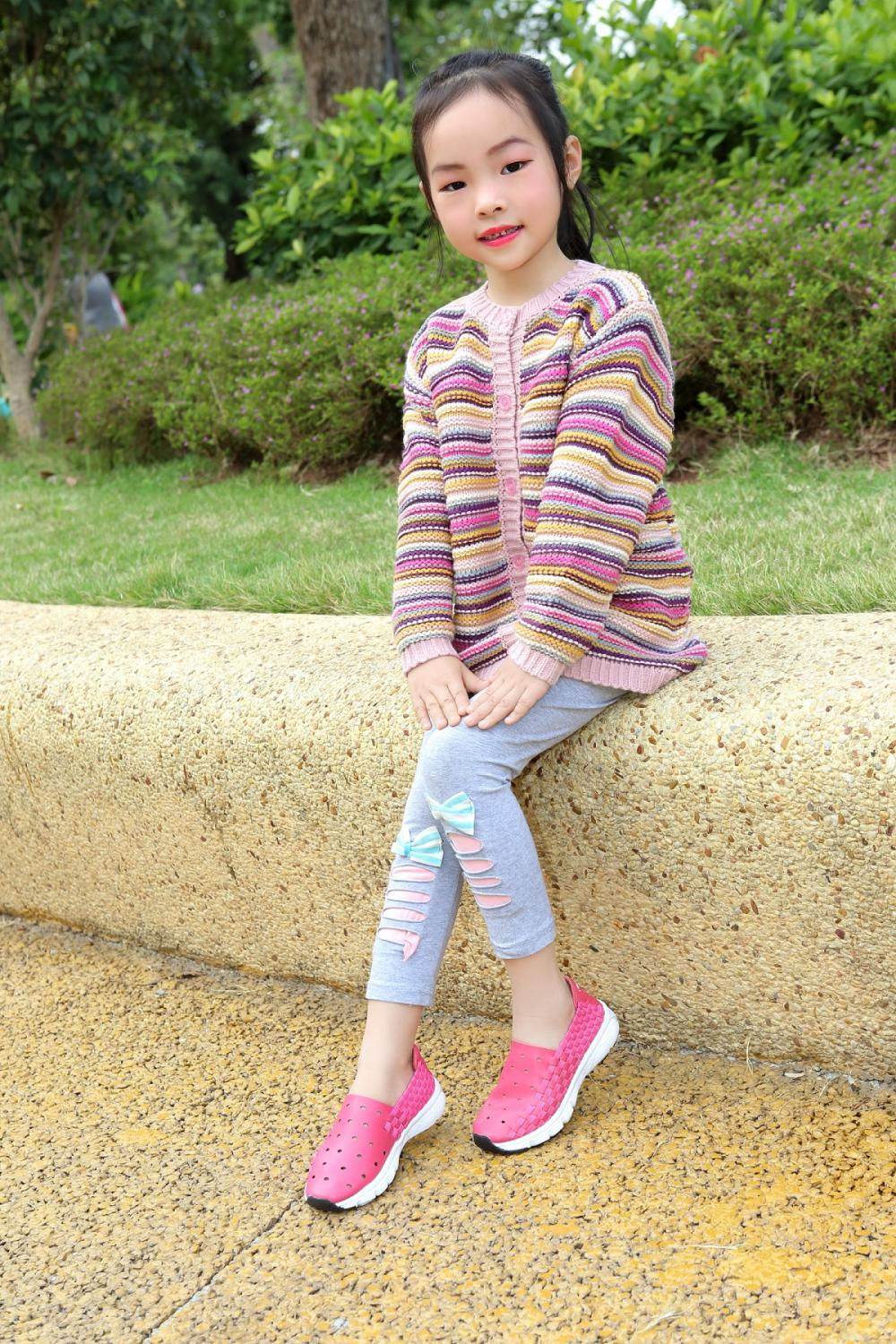 Girls Woven Sneakers Shoes-4