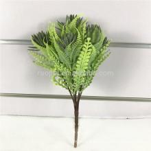 rama de hoja perenne artificial de interior caliente de la venta caliente con 3 colores