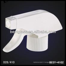 pulvérisateur à gâchette blanc gros plastique 28 284, déclencheurs de pulvérisateur de bouteilles cosmétiques, pulvérisateur de pompe de parfum