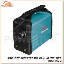 Inversor manual da soldadura da soldadura da CC do inversor do arco IGBT de Powertec (MMA-160)