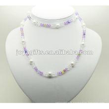 Enveloppement de perles de verre en hématite de mode