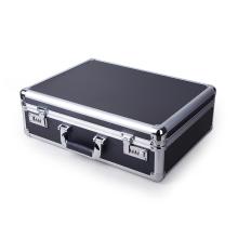 Exquisita caja de herramientas de aluminio con bloqueo codificado