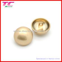 Hochwertiger Perlen-Goldmetall-Pilz-Schaft-Knopf für Mantel