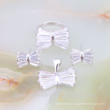 Jóia por atacado Conjunto de colar de casamento de cristal