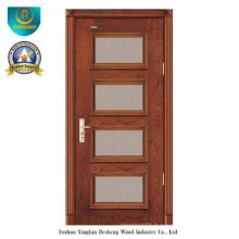 Porte en bois massif de style moderne avec verre pour l'intérieur (ds-8024)