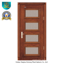 Modern Style Solid Wood Door with Glass for Interior (ds-8024)