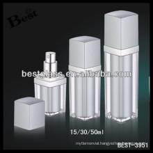 50ml rectangular supplements empty bottles, 30 supplements empty bottles with pump