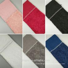 Fashion new style women maxi plainturkish head lady shawl hijab muslim scarf cotton lace stone hijab